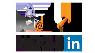 Logos Ant Text logo above LinkedIn logo