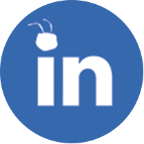 Icon LinkedIn with Ant head