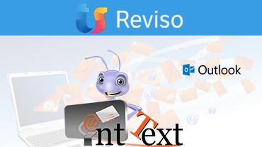 Logoer Reviso Outlook og Ant Text