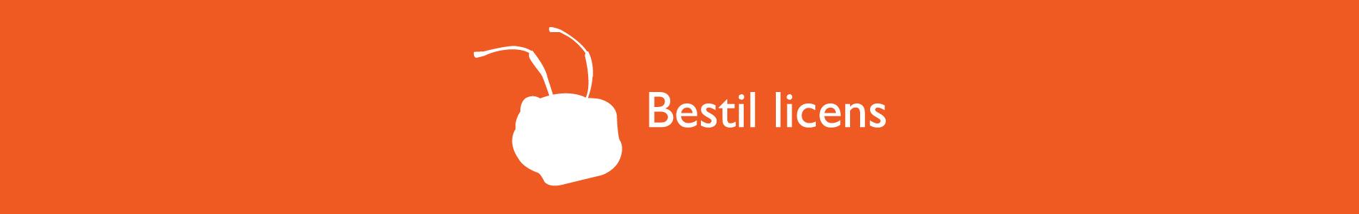 Header med tekst Bestil licens