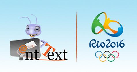 Logos Ant text logo next to Rio 2016 OL logo