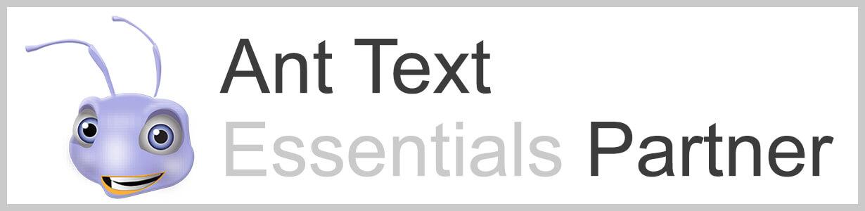 Header Ant Text essentials partner