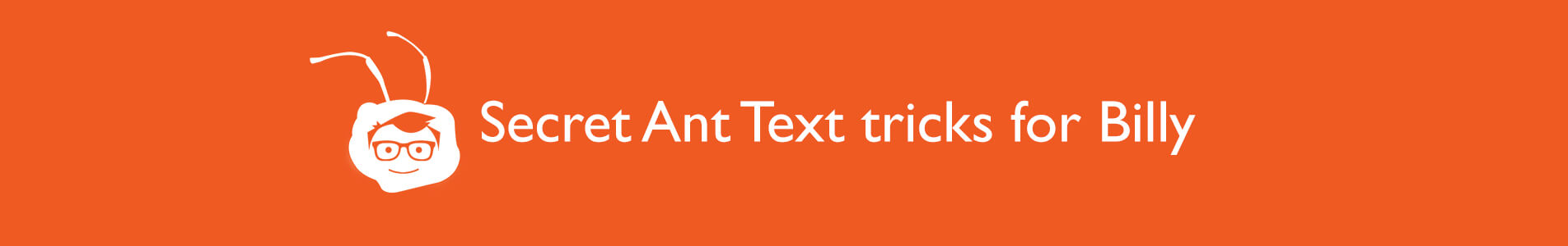 header ant text tips for billy