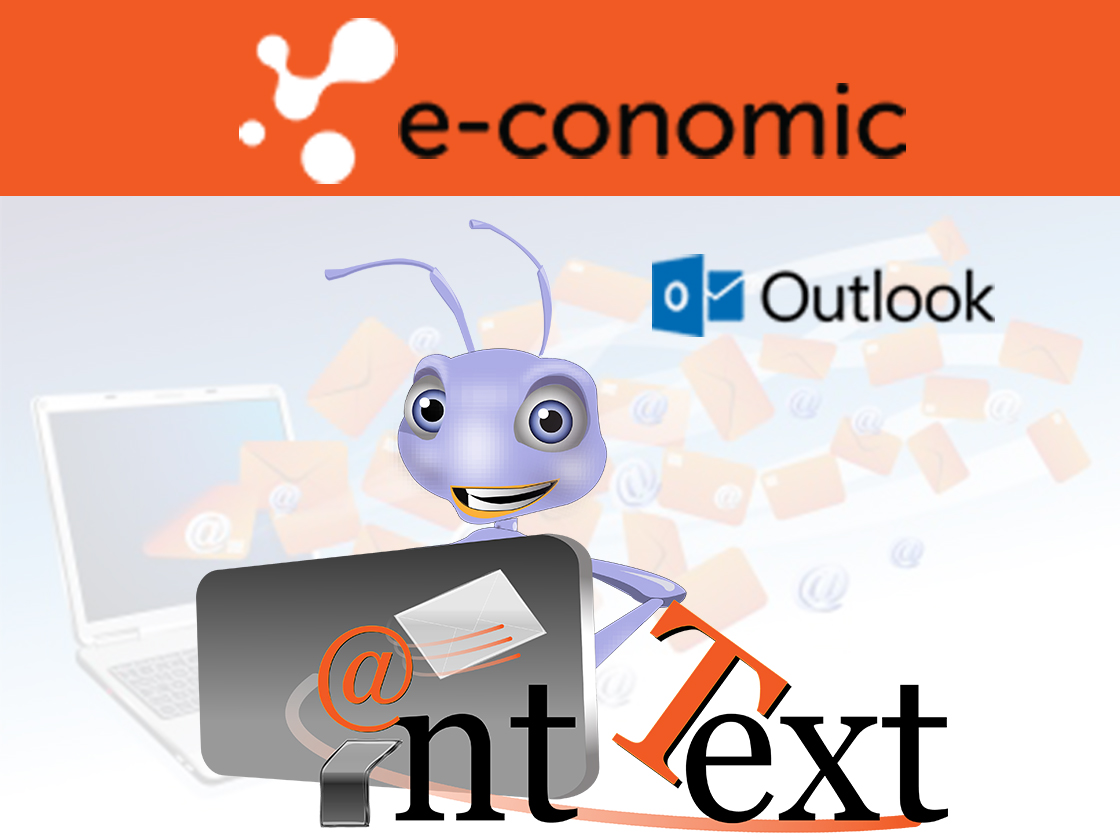 Ant text logo with economic and Outlook logos